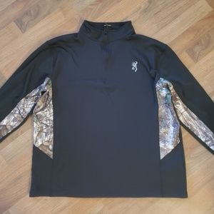 Browning Quarter-Zip PerformanceFleece Sweatshirt